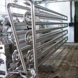 Охладители типа «труба в трубе» применяются для охлаждения сусла или вина