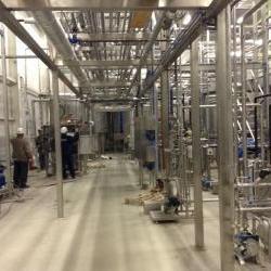 Обвязка трубопроводов для молочного завода