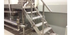 Лестница из нержавеющей стали промышленная