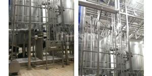 пример обвязки трубопроводами из нержавеющей стали на предприятии по производству бытовой химии