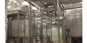 обвязка емкостей из нержавеющей стали на пивзаводе