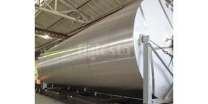 Емкость вертикальная для растительного жира, объемом 27,8м3