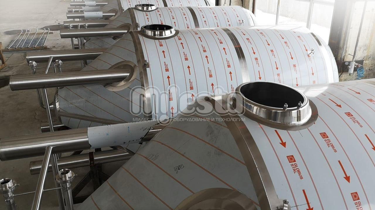 цилиндро конический танк для пивоварни