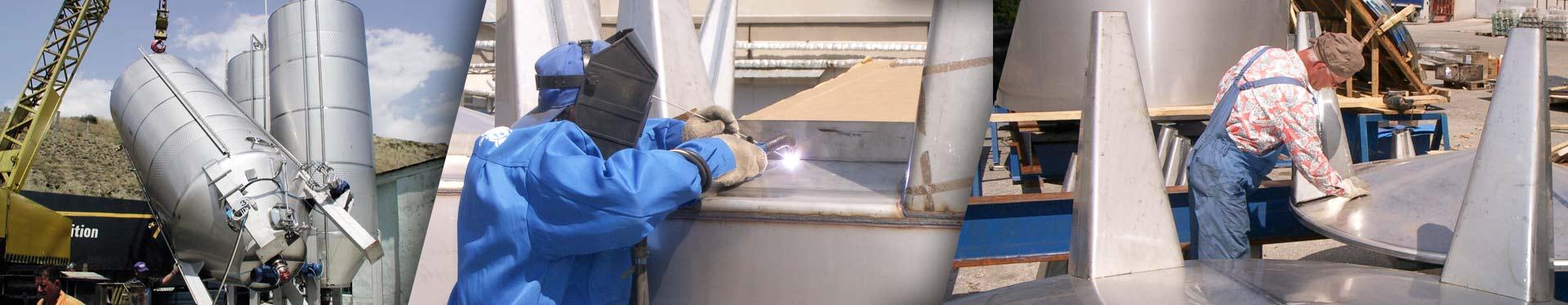 Монтаж емкостей из нержавеющей стали